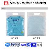 Bolsos de empaquetado de la ropa plástica clara auta-adhesivo de encargo, bolso de la camiseta
