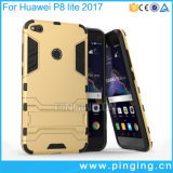 Huawei P8 라이트 2017년을%s 철 남자 Kickstand 이동 전화 상자