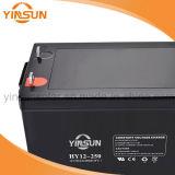 bateria solar de bateria 12V250ah acidificada ao chumbo para o sistema do painel solar
