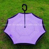 Kleurrijke Draagbare Handsfree Omgekeerde Paraplu voor Auto (su-0023I)