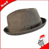 Chapéu de palha clássico do papel do chapéu do Fedora