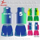 Basket-ball neuf Jersey de type sublimé par teinture de Healong