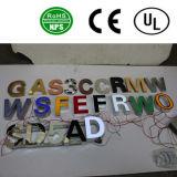 Alphabet lumineux élevé de lettre des lettres Signs/LED de la Manche de DEL