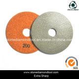 4 '' /5 '' /6 '' Diamant galvanisierte Polierauflagen
