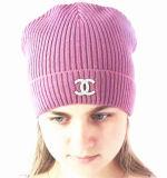 Stickerei, Streifen-Rollenrand, Beanie-Hüte (S-1059)