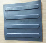 Haltbare warnende Gummiziegelsteine, die Tastfliese pflastern