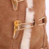 Fashion Mesdames 3 cm de bottes d'hiver de filtre en coin avec trois boutons de l'avertisseur sonore