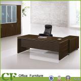 Mesa executiva do escritório luxuoso da mobília dos CF com sobressalentes do zinco/gabinete lateral