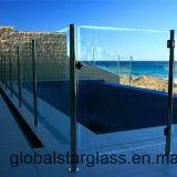 5+5, verre feuilleté clair de 6+6mm pour le panneau de frontière de sécurité de syndicat de prix ferme