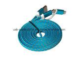製造業者の供給のiPhoneのためのナイロン編みこみのデータケーブル(TUV)