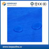 Bâche de protection imperméable à l'eau renforcée bleue de PE de 5 Mx10m pour le syndicat de prix ferme
