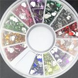 Nail Art Décoration 1.5 mm 12 Coloris en strass Décoration en ongle 3D pour UV Gel Vernis à ongles Accessoires pour manucure Pointe en pédicure