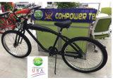 ألومنيوم دراجة إطار مع أثاث مدمج [غس تنك] [3.4ل], لأنّ 2&4 دراجة محرّك عدة