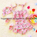 Baby's Girl Printed Lovely Bikini, Kids Swimming Wear