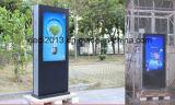 Planta Permanente 55inch LCD publicidad al aire libre Quiosco