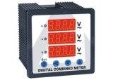 амперметр цифров комбинации 3p3w & чтение комбинации для метра 3 напряжений тока