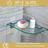 6mmによっては10mm 12のmmフロートガラスの棚のコーナーの装飾的なガラス四分の一円の小さい壁のガラス棚強くされるか、または緩和されたガラスが家へ帰る