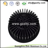 Perfil de aluminio de la decoración/disipadores de calor de aluminio del girasol del material de construcción