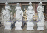 Pierre à sculpter le jardin de sculptures en marbre pour la maison Décoration (sy-X1032)