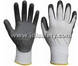 Отрежьте упорные перчатки безопасности покрынные с PU (PD8022)