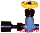 A válvula do medidor de pressão de amônia