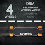 Planche à roulettes électrique de pivot de roues duelles du moteur 4 avec à télécommande