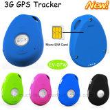 3G/WCDMA Rastreador GPS mini impermeável com o SOS& Fall Alarm EV07W