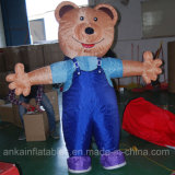 Costume ambulante gonfiabile creativo Moscot del fumetto dell'orso per divertimento
