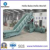 50 HP HELLOBALER Resíduos de papel hidráulico Horizontal prensa de enfardamento