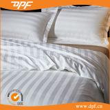 100% algodão branco listras de 3cm 4 PCS Hotel Bedding Conjuntos (DPFB80103)