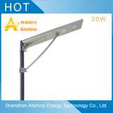 productos al aire libre LED de la lámpara del jardín 30W que encienden la luz de calle solar