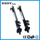 Double cylindre hydraulique à longue course télescopique temporaire