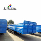 3 4 Wellen-hoher Bett-Behälter-Ladung-Transport-LKW-halb seitliche Wand-Schlussteil