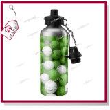 nastro di 400ml 500ml e bottiglia di acqua di alluminio rivestita di sublimazione bianca