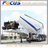3 Axles сушат трейлер топливозаправщика цемента перехода силы Semi