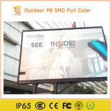 게시판 스크린을 광고하는 높은 광도 옥외 P8 SMD LED