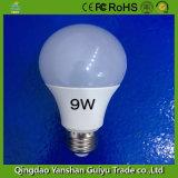 luz de bulbo do diodo emissor de luz 9W com alumínio e material plástico de Eco