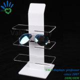 Mesa soporte de visualización de 3 vidrios de acrílico de la capa
