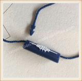 Tag plástico personalizado do fechamento da corda do selo do vestuário
