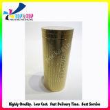 Boîte-cadeau cosmétique de cylindre de couleur d'impression d'or de papier
