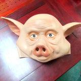 돼지는 유액 Halloween 당 유액 동물성 가득 차있는 맨 위 가면을 복면한다