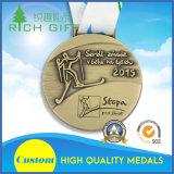 belle medaglie su ordinazione del distintivo dell'oro del ricordo 3D con il nastro della medaglia