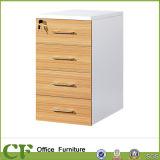 Gabinete de madeira do escritório do suporte móvel de 3 gavetas