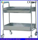 Carretilla médica de la infusión del acero inoxidable del uso del equipamiento médico con el cajón