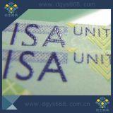 Vale UV da segurança da impressão do logotipo de Customizerd