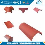 Teja de teja de cerámica doblada Teja de teja de plástico de construcción