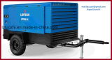 地図書のCopco Liutech 500cfm 14barの鉱山のための携帯用ディーゼル空気圧縮機
