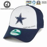 Gorra de béisbol de los deportes respirable ocasional elegante con el bordado de la estrella 3D