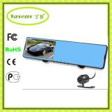 Doble lente HD 1080P Car Dash Cam, DVR coche con GPS LDWS FCWS Adas