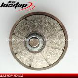 모양 O 사암 석회석을%s 진공에 의하여 놋쇠로 만들어지는 다이아몬드 단면도 바퀴